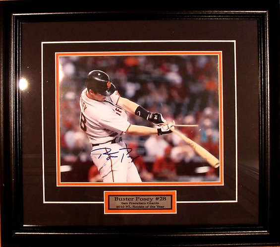 Posey, Buster Autographed Giants 8x10 Photo Framed