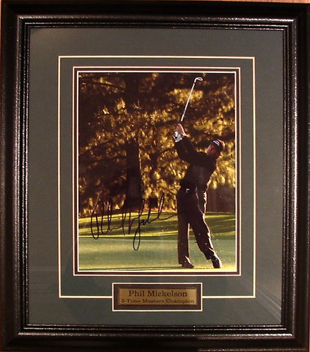 Mickelson, Phil Autographed 8x10 Photo Framed