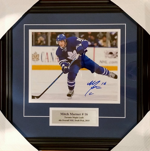 Marner, Mitch Autographed Maple Leafs 8x10 Photo Framed