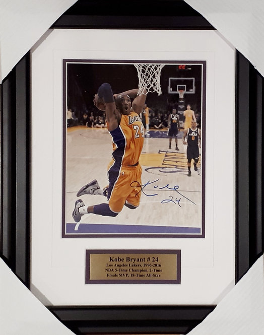 Bryant, Kobe Autographed Lakers 8x10 Photo Framed