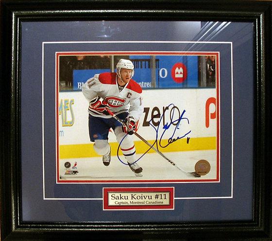 Koivu, Saku Autographed Canadiens 8x10 Photo Framed