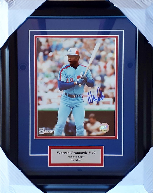 Cromartie, Warren Autographed Expos 8x10 Photo Framed