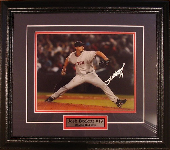 Beckett, Josh Autographed Red Sox 8x10 Photo Framed