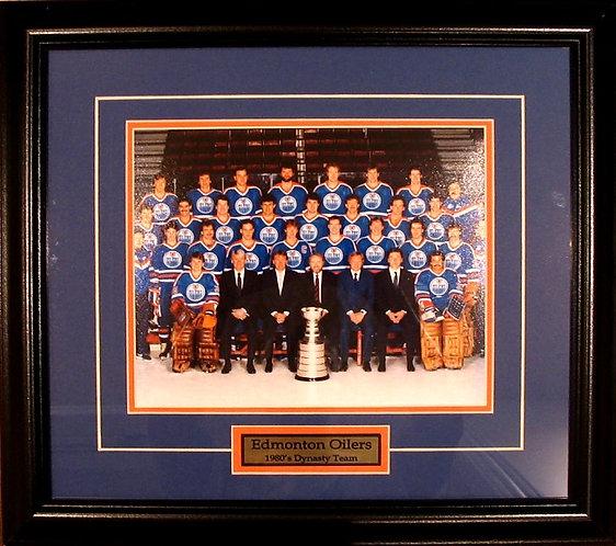 Edmonton Oilers 1984 Team 8x10 Photo Framed