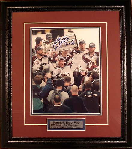 "Roy, Patrick Autographed Avalanche ""Stanley Cup"" 8x10 Photo Framed"