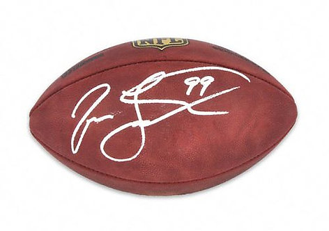 Taylor, Jason Autographed NFL Wilson Football