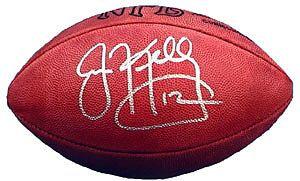 Kelly, Jim Autographed NFL Wilson Football