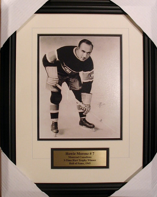 Morenz, Howie Canadiens 8x10 Photo Framed