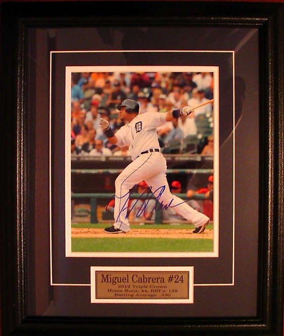 Cabrera, Miguel Autographed Tigers 8x10 Photo Framed