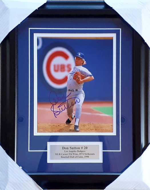 Sutton, Don Autographed Dodgers 8x10 Photo Framed