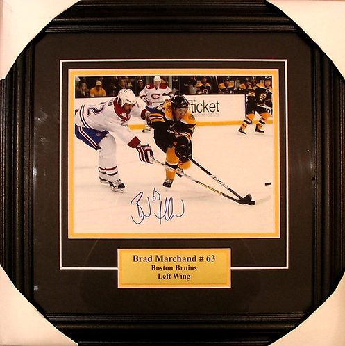 Marchand, Brad Autographed Bruins 8x10 Photo Framed