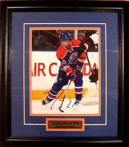 Eberle, Jordan Autographed Oilers 8x10 Framed