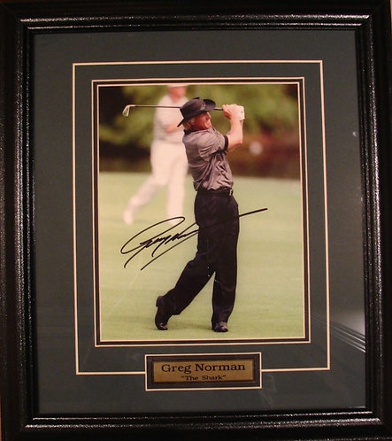 Norman, Greg Autographed 8x10 Photo Framed