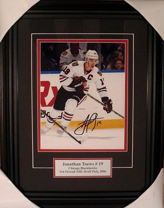 Toews, Jonathan Autographed Blackhawks 8x10 Photo Framed