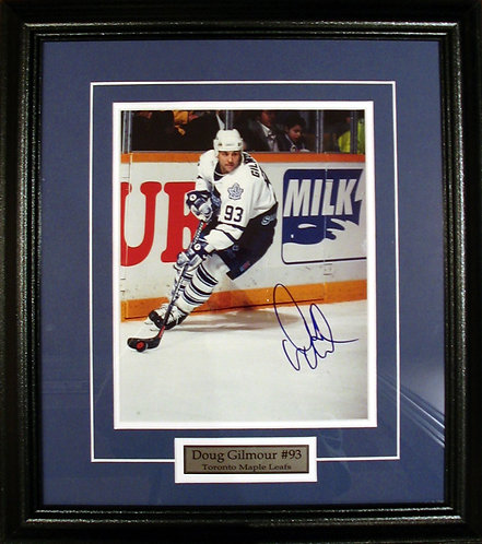 Gilmour, Doug Autographed Maple Leafs 8x10 Framed