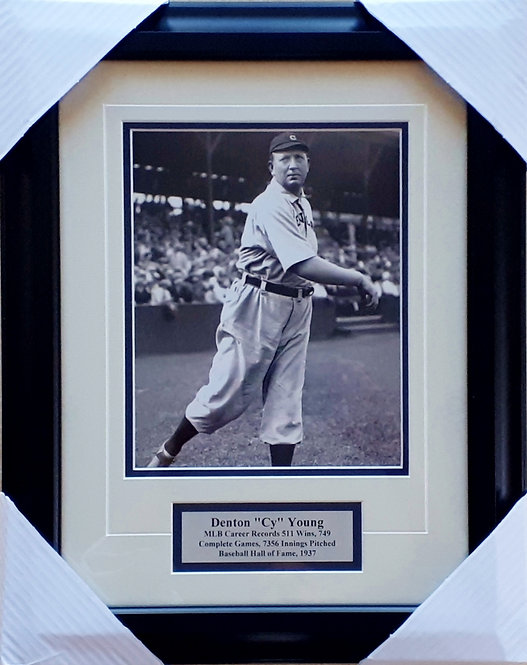 Young, Cy 8x10 Photo Framed