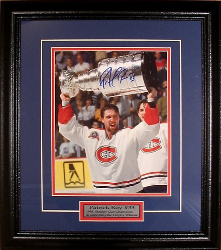 "Roy, Patrick Autographed Canadiens ""Stanley Cup"" 8x10 Photo Framed"