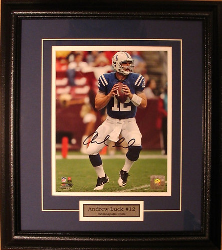 Luck, Andrew Autographed Colts 8x10 Photo Framed