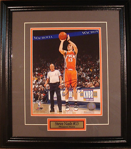 Nash, Steve Autographed Suns 8x10 Photo Framed