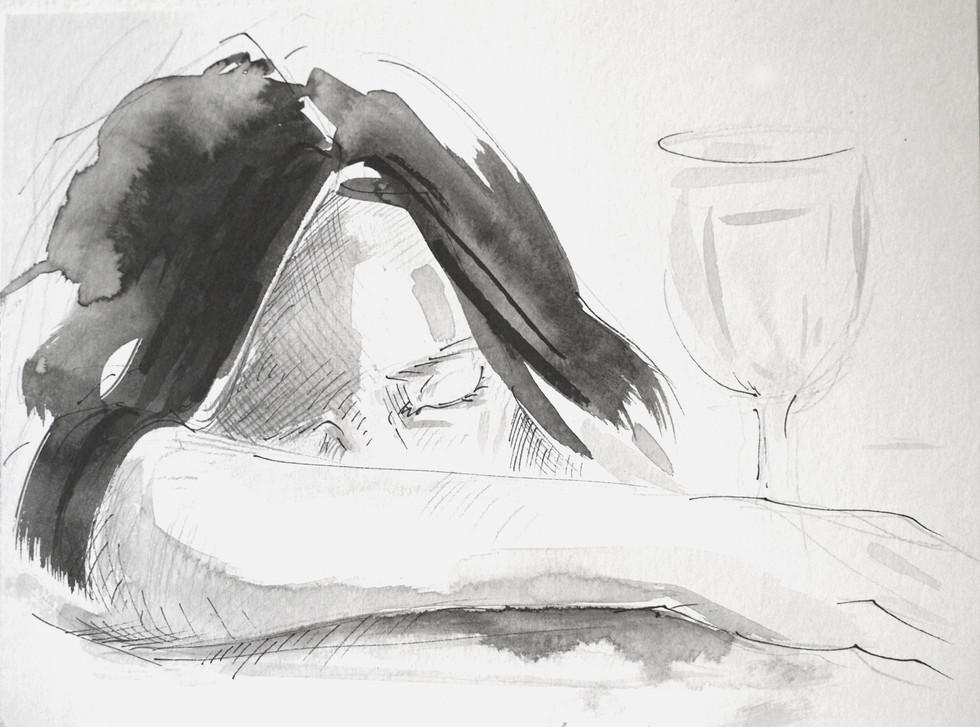 Cups II, 21x29,7 Tinta china sobre papel