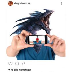 Dragon Blood selfie