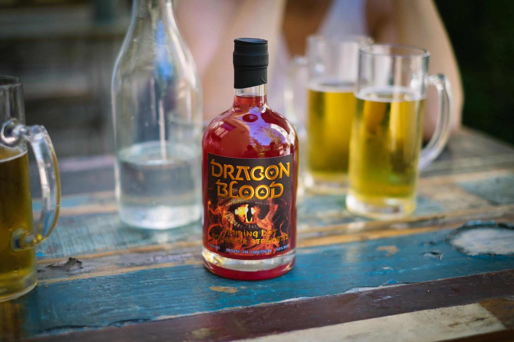 Dragon Blood and beer