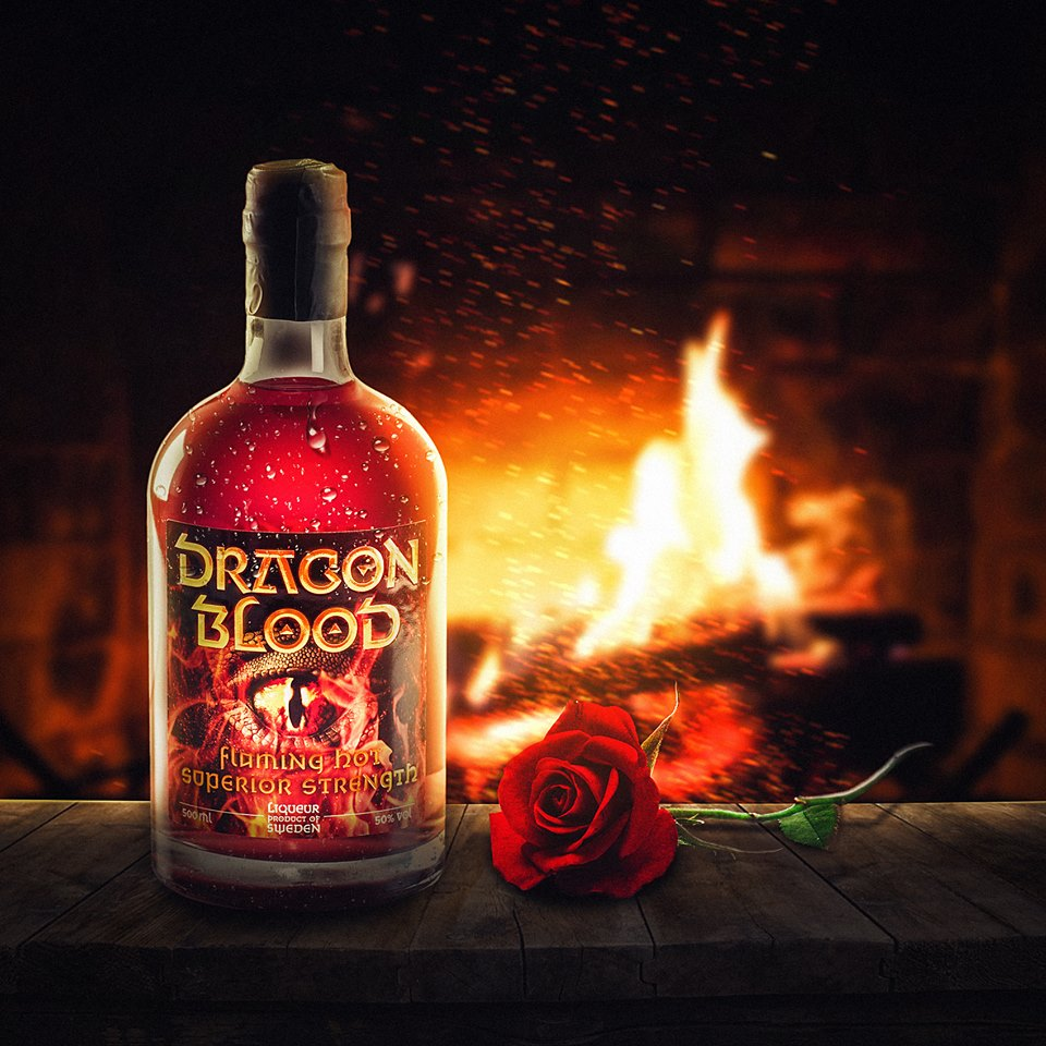 Dragon Blood cozy fireplace