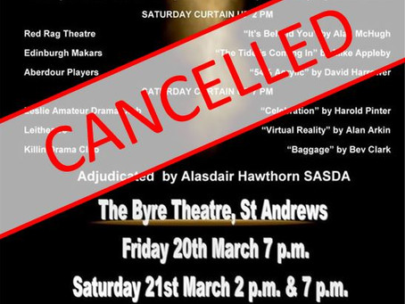 SCDA One-Act Festival 2020 - Scottish Final cancelled