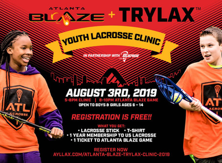 ATLANTA BLAZE Youth Lacrosse Clinic In Partnership with ABOE District 5