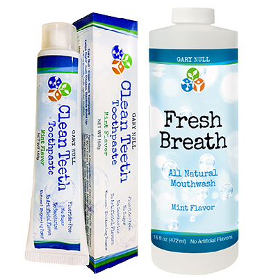 Clean Teeth Toothpaste and Fresh Breath Mouthwash Pack