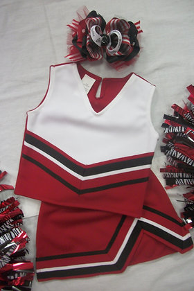 Red & White cheer uniform, style 1, original