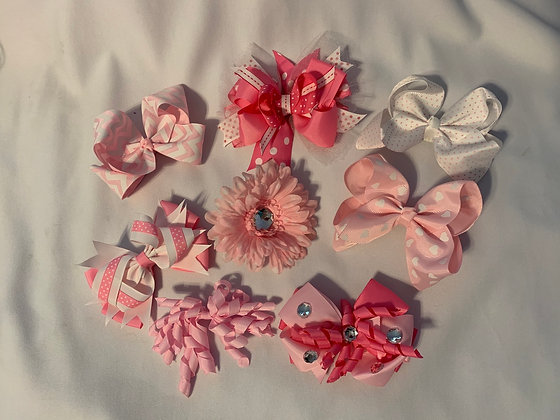pink bow collection