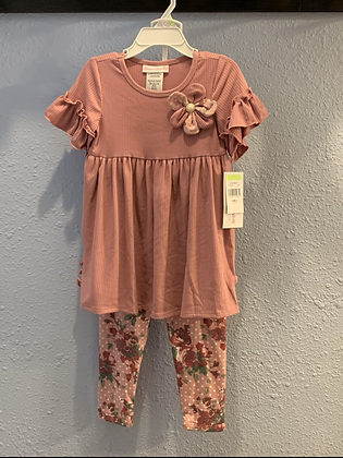Bonnie Jean Mauve and flowers 4-6x