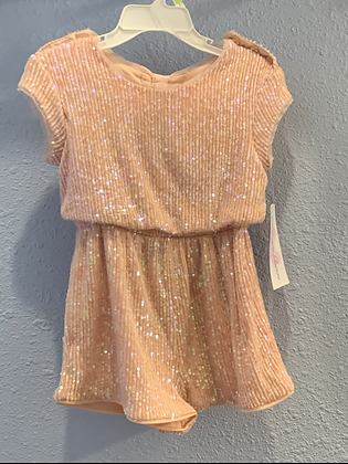 pink sequin short Jumpsuit 2t 3t