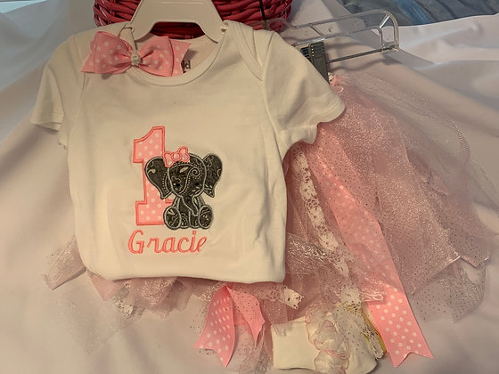 birthday onesie and tutu set