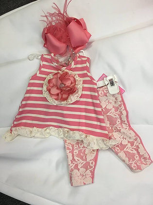 coral and lace infant