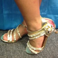 Rhinestone  Sandals high heels