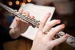 Playing the transverse flute
