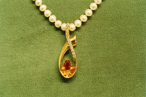 AMBER & PEARL NECKLACE
