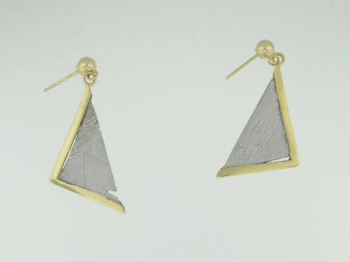 TRIANGULAR METEORITE EARRINGS