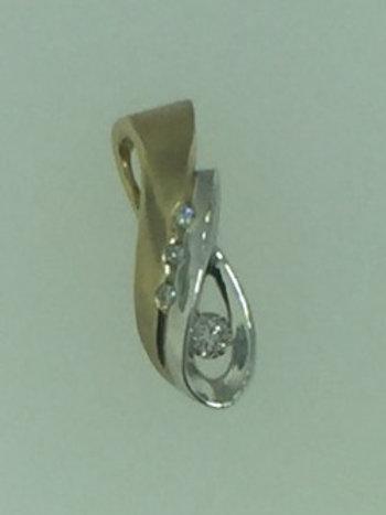 Gold and Diamond Slide Pendant