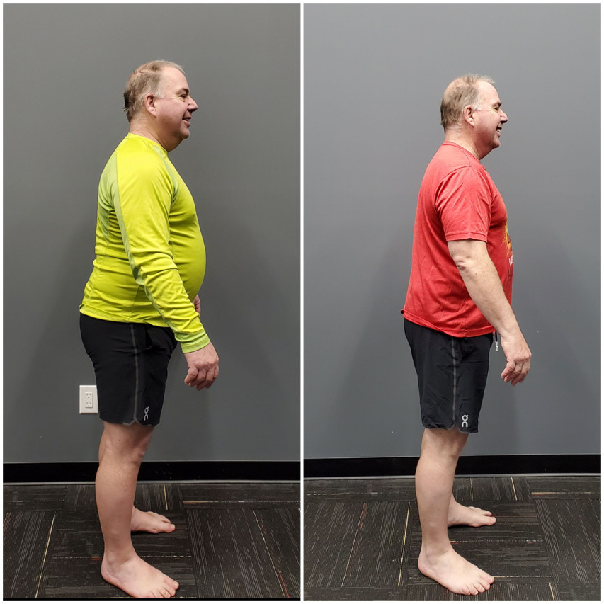 Mark side Before and after