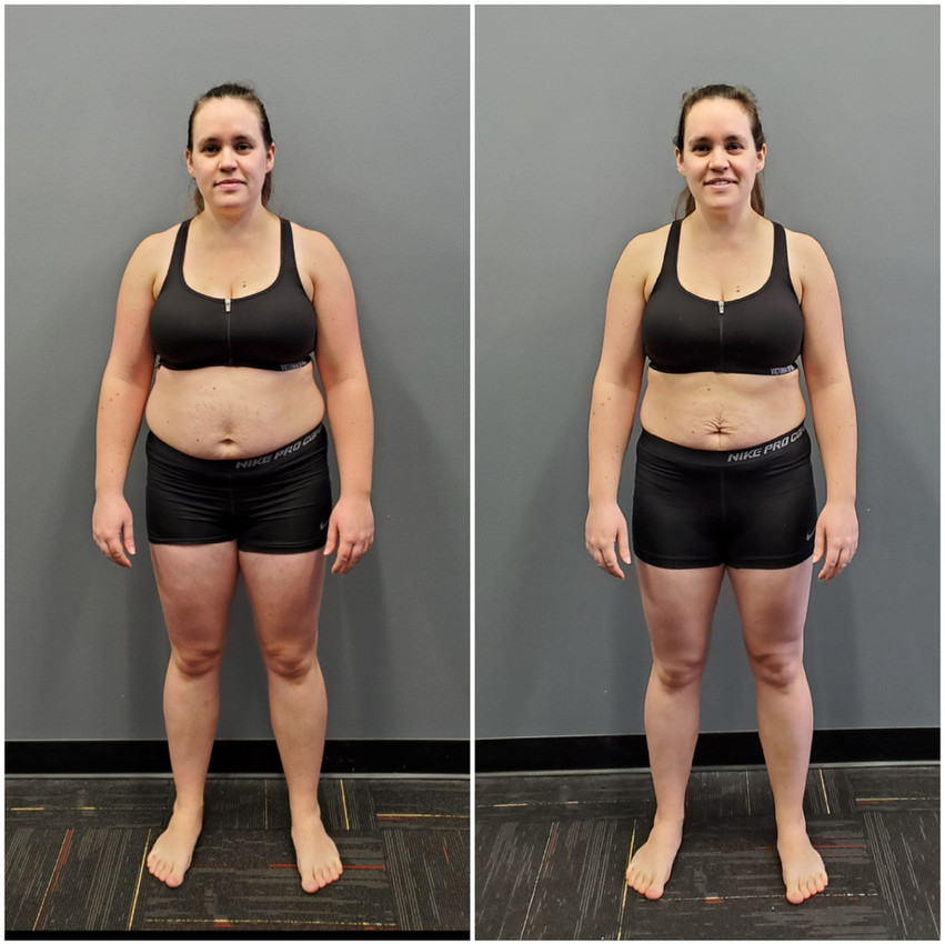 Katie Wignal Front before and after
