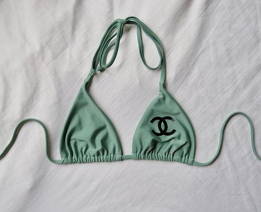 Sage black CC bikini top