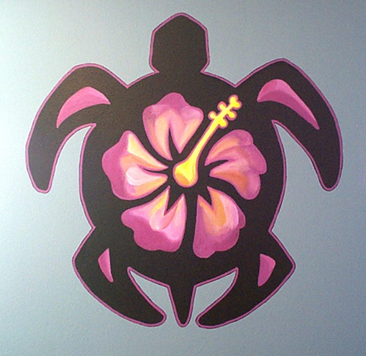 Hawaiian turtle mural
