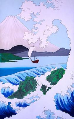 Hiroshige mural sample
