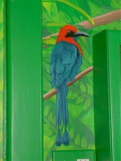 Rainforest mural - detail