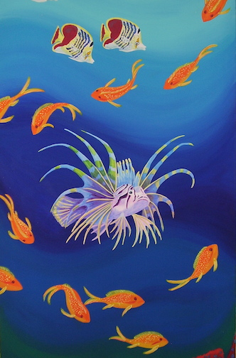 Lionfish mural sample