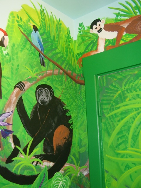 Rainforest mural