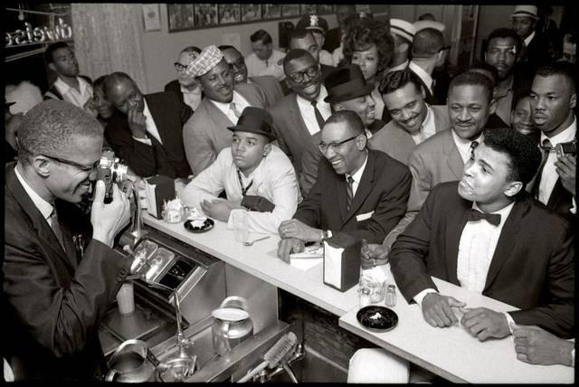 Malcolm X and Ali at Hampton House.jpg